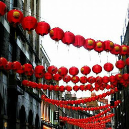 London chinatown traveling blackandred lampion streets