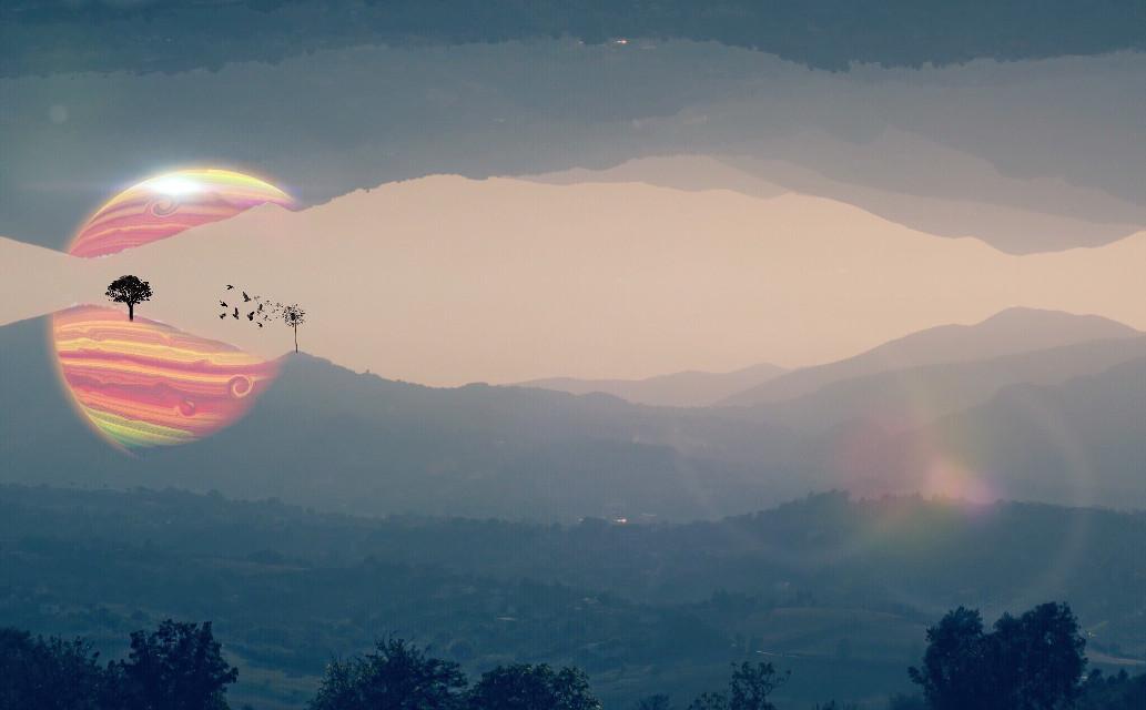 THROUGH MY LENS: AUTUMN VIBE                                  •   17-9-16.  Canon G9 X  30.6 mm, 1/1250, F10 iso200. #mirroreffect #eraser #crossprocess #lensflare #clipart #universe #walkinthewoods #italy #fog #mountain #landscape #art #myart #my #viewfrommywindow #autumn #me #edited #wapautumnvibe #photoshop