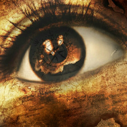 emotions drama parchment eye travel