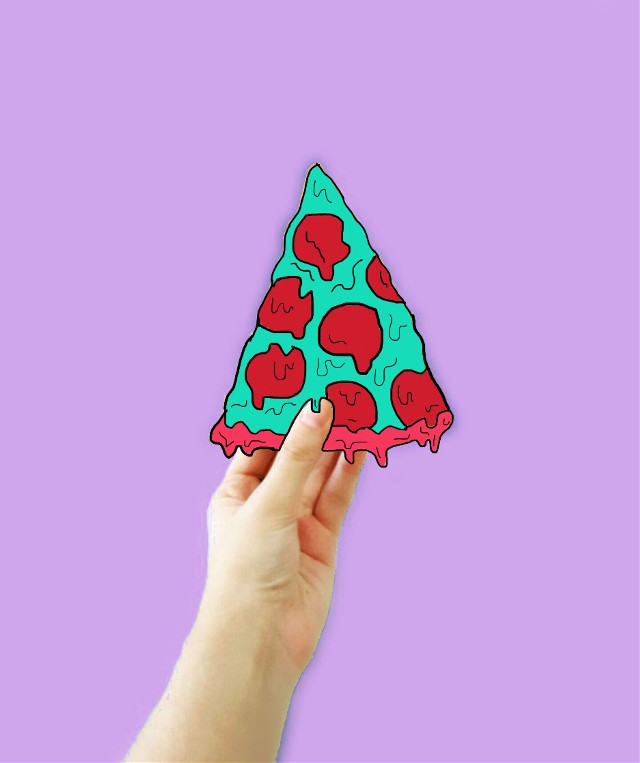 #FreeToEdit my first #grimeart ! So proud about it💅🏻 #pizza #grime #monster #hand #purple #pepperoni #tumblr #art #interesting
