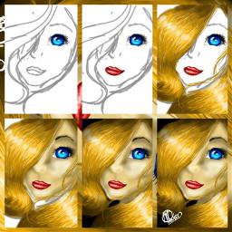 stepbystep girl drawing