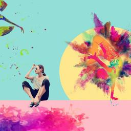 freetoedit colorful dance ballerina