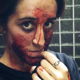 girl makeup zombie zombieapocalypse zombiegirl freetoedit