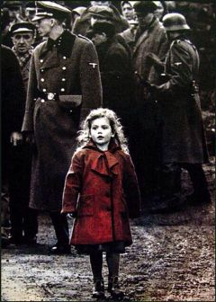 holocaust schindler red blood death