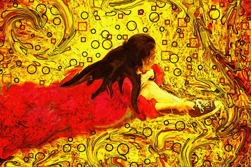 #FreeToEdit  #remix #gold  #red  #pattern #colorful