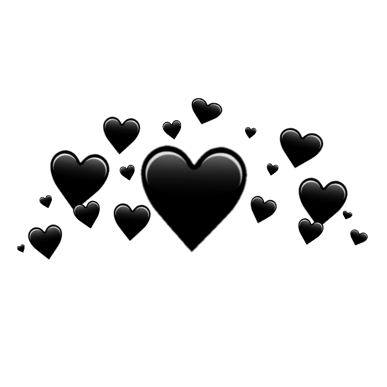 black heart crown  u2665 black heart crown blackhear free valentine clip art heart groups Free Clip Art Valentine Hearts and Flowers
