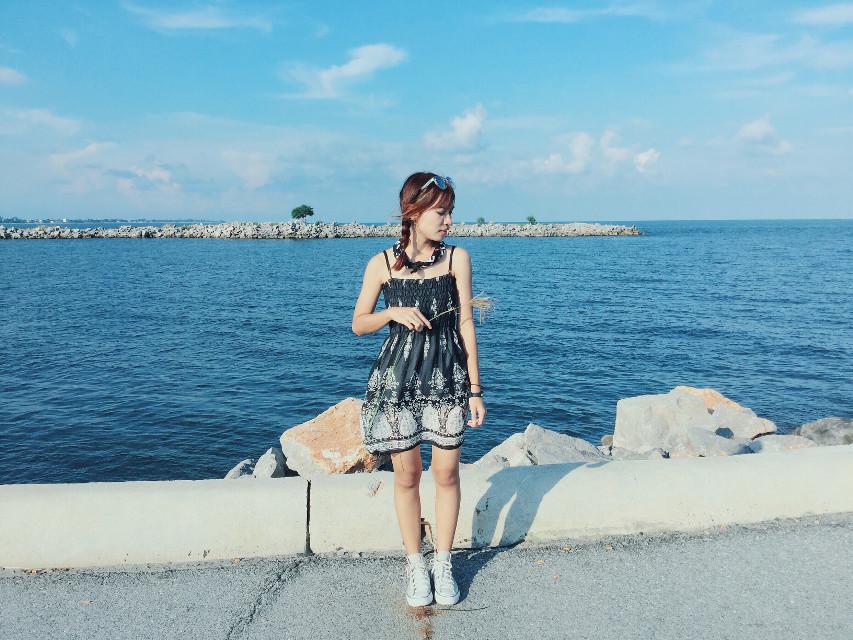 Sky and sea 💙     #interesting #art #beach #sea #sky #nature #travel #thailand #happy #happiness #smile #girl #me #i #FreeToEdit