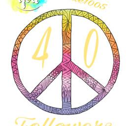 40 followers livelaughlove peace colors